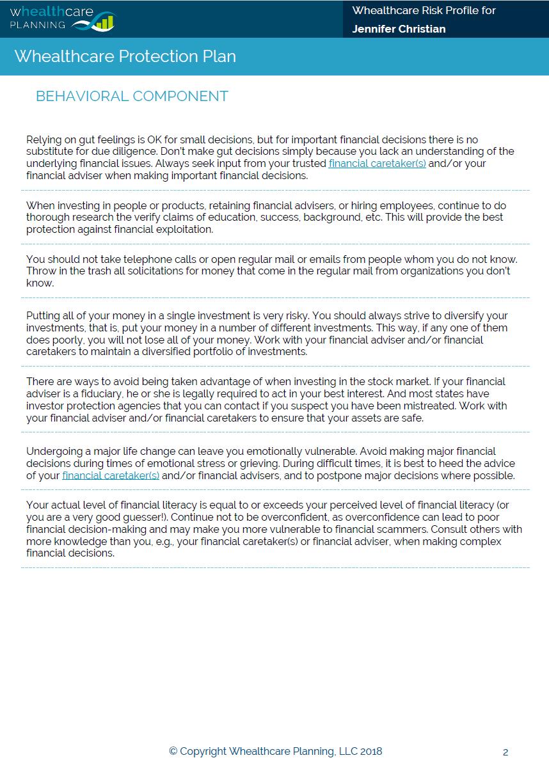 Whealthcare Risk Profile Overview